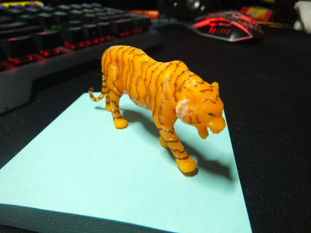 3D Printed Tiger Now with Stripes ...